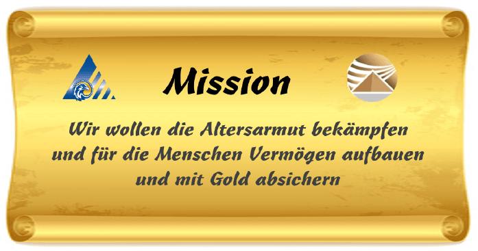 Mission – Altersarmut mit Gold bekämpfen